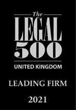 Legal 500 2021 Leading Firm
